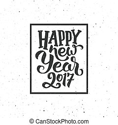 New Year 2017 vintage greeting card - Happy New Year 2017...