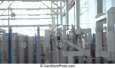 Automatic line of windows production. Full HD