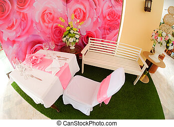 Formal dinner service as at a wedding