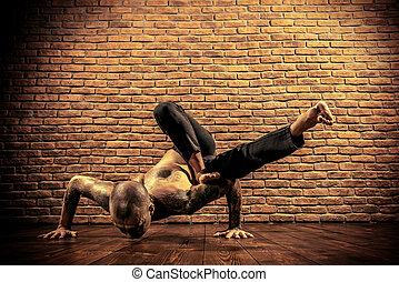 yoga teacher - Various difficult yoga poses. Yoga teacher...