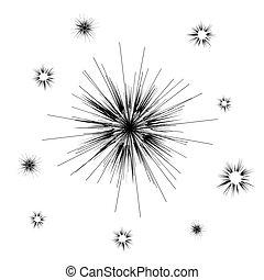 Vector Cartoon Explosion, Star Burst