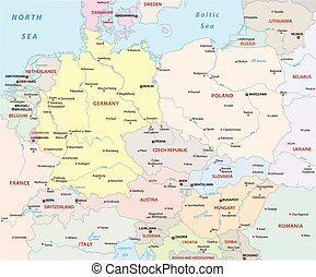 Central Europe Political Map - Central Europe Political...