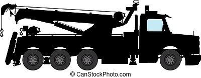 breakdown lorry, wrecking truck