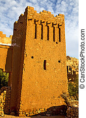 africa histoycal maroc and the blue sky - africa in...
