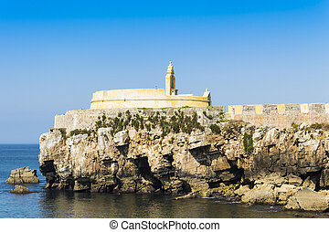 View of Peniche, Portugal - View upon Citadel of Peniche in...