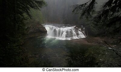High definition movie of Lower Lewis River Falls in WA state 1080p