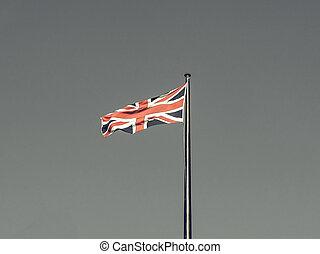 Mirar, vendimia, bandera, Reino Unido
