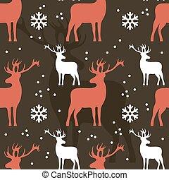 Seamless Christmas pattern. Vector - Seamless Christmas...