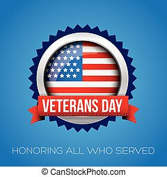 Veterans Day vector badge