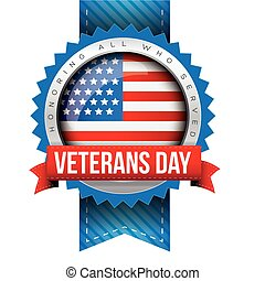 Veterans Day vector badge
