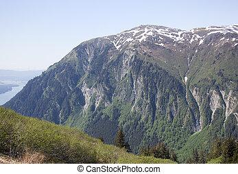 Mount Juneau Scenery - Mount Juneau of 3576 feet (1090...