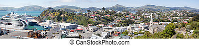 Port Chalmers Panorama - The panoramic view of Port...