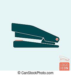 Stapler icon isolated - Stapler icon. Office equipment...