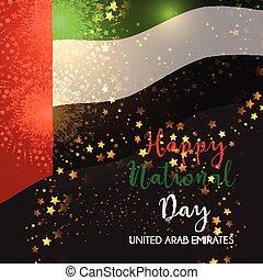 Decorative background for UAE National Day celebration -...