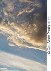 Partly Cloudy. Anticyclone. Weather forecast. - Cumulus...