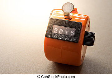 Tally counter show digit 2016  to new year 2017