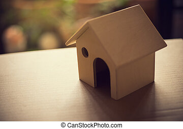 Concept of home purchase mortgage.