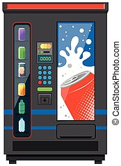 Vending machine for soft drinks illustration