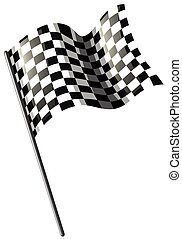 Motocross racing flag on white illustration