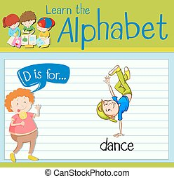 Flashcard letter D is for dance