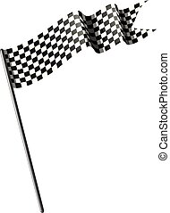 Racing flag on white background illustration
