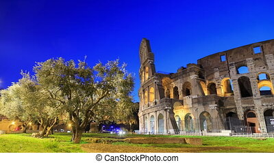 Colosseum, Rome, Italy. Camera movement, TimeLapse. UltraHD...