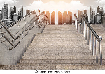 Marble staircase railing stainless steel