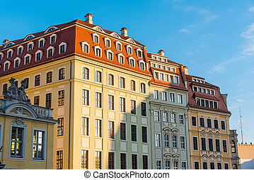 Restored buildings in Dresden