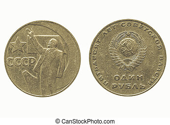 Vintage CCCP coin - Vintage looking Russian coin 1967...