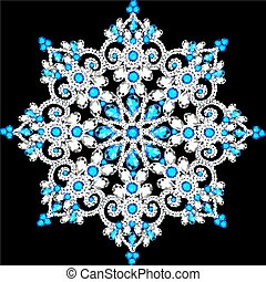 Christmas snowflake crystal precious. Beautiful jewelry,...