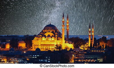 The beautiful Suleymaniye mosque in Istanbul, Turkey.