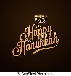 Hanukkah Vintage Lettering design Background 10 eps