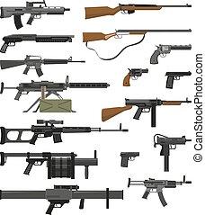 Weapons Guns Set - Big flat set of various weapons guns...