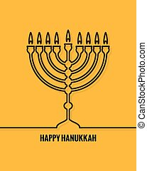 Hanukkah Candles Line design Background