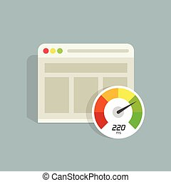 Website speed loading time vector icon, web browser seo...