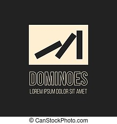Dominoes vector logo design. Logotype icon symbol