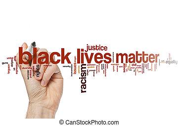 Black lives matter word cloud concept - Black lives matter...