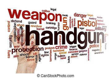 Handgun word cloud concept