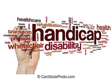 Handicap word cloud concept