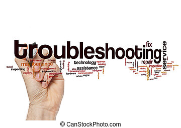 Troubleshooting word cloud concept