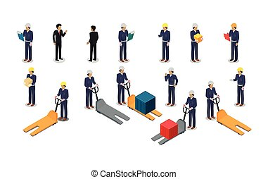Employees Postal or Warehouse Company in Isometric