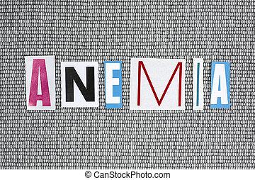palabra, gris, Plano de fondo,  anemia