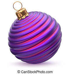 Christmas ball New Year's Eve decoration blue purple bauble