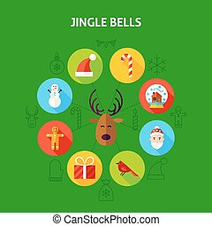 Jingle Bells Infographic Concept. Vector Illustration of...