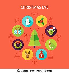 Christmas Eve Infographic Concept. Vector Illustration of...