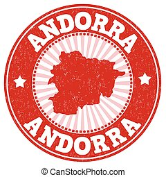 Andorra sign or stamp - Grunge rubber stamp with the name...