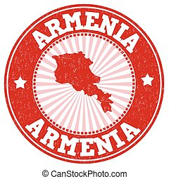 Armenia sign or stamp - Grunge rubber stamp with the name...