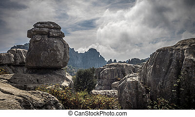 El Torcal de Antequera, fascinating mountain rock formations...