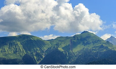 Mountains with clouds. TimeLapse. HDR. Sochi, Russia....