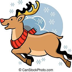 Flying Rudolph Red Nosed